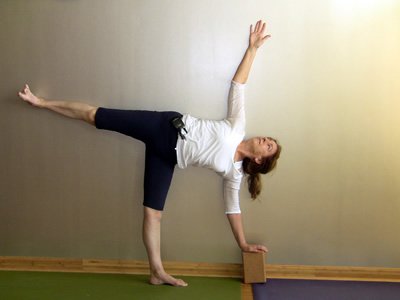 Bobby Clennell in Ardha Chandrasana at Studio Bamboo Institute of Yoga 2010