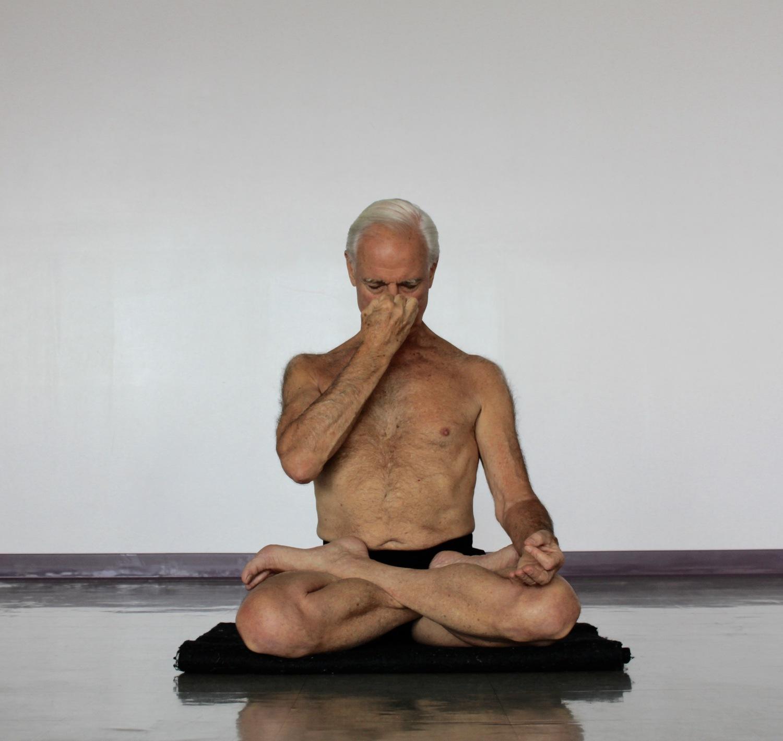 John Schumacher in Seated Pranayama