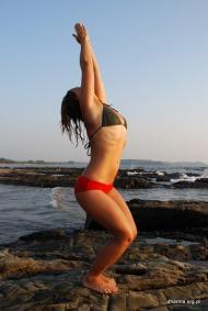 Utkatasana from Dharma Yoga and Ayurveda