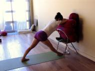 Model: Netta in Parsvottanasana for 2nd Trimester Pregnancy