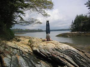 Handstand in Maine