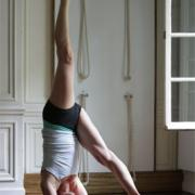 Anne-Marie Van Holder in Eka Pada Sirsasana